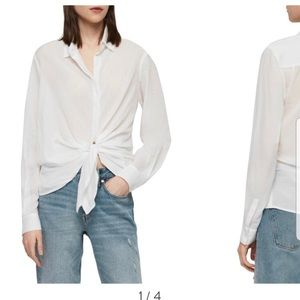 NWT All Saints Sirena Front Tie Shirt